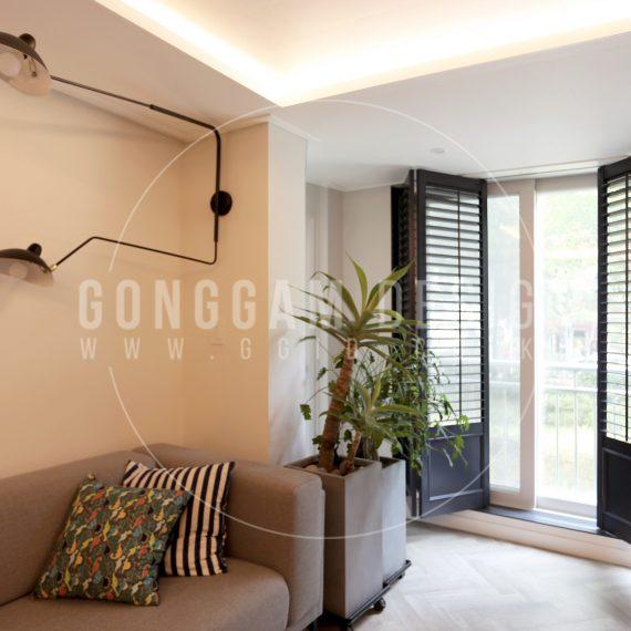 분당 30평대 아파트 인테리어 시공사례, 폴딩도어와 함샘주방 예쁜집 인테리어 디자인, 공감디자인 (5)