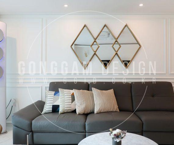정자동 30평대 아파트 인테리어 거실(5)